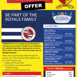 Reading FC Grass Roots Tickets.